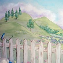 Kid's Bedroom Mural - Life in the Mountains 3