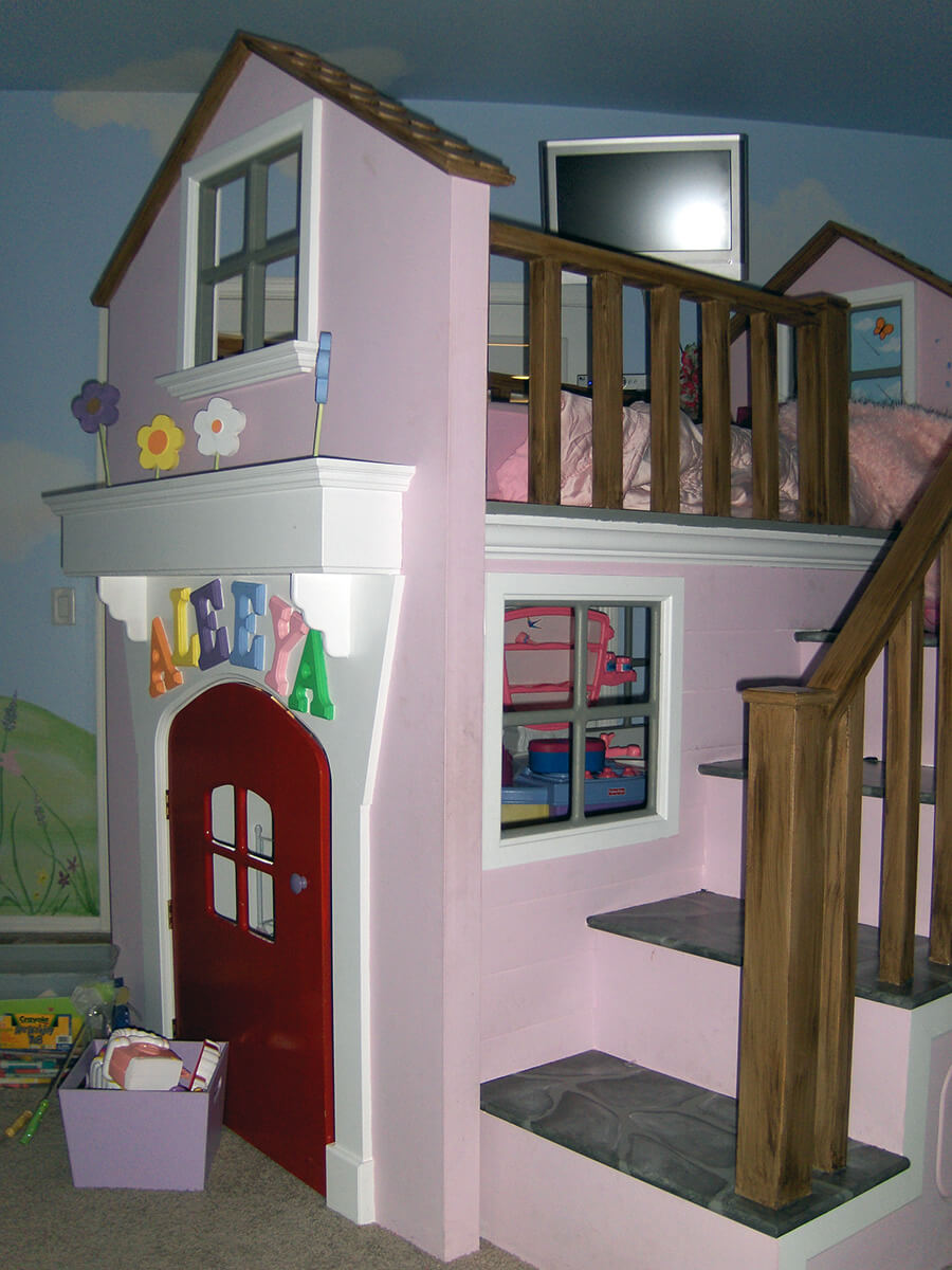 Fairy Land & Custom Bunk Bed - HouseArt Custom Painting
