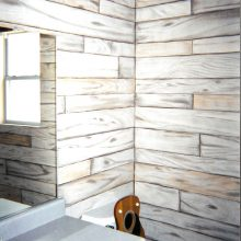 Wooden Boards Painted Bathroom