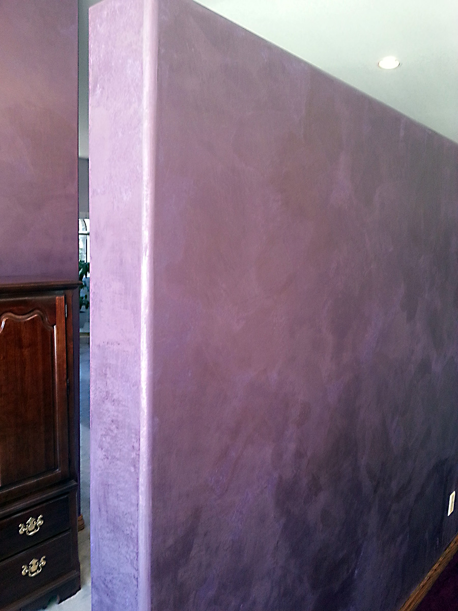 Faux Finished Bedroom In Purples Houseart Custom Painting