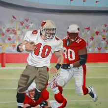 Pittsburgh Pirates vs Arizona Cardinals Football Painted Mural