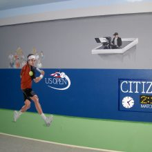 tennis us open mural custom wall paint 1