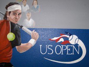 tennis us open mural custom wall paint 1 closeup