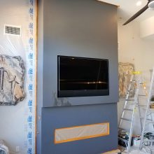metallic faux painted fireplace sunset rd las vegas 2
