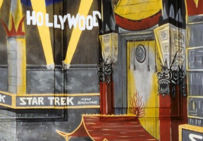 Hollywood Boulevard Stars & Star Trek Opening Mural